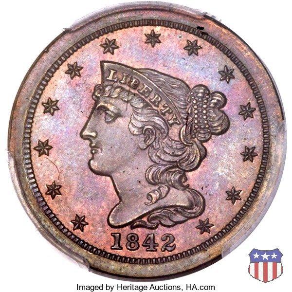 Braided Hair (1840-1857) 1842 (Philadelphia)